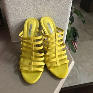 BCBG Generation Neon Yellow Sandals